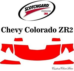 Details about 3M Scotchgard Paint Protection Film Clear Kit 2017 2018 2019  Chevy Colorado ZR2
