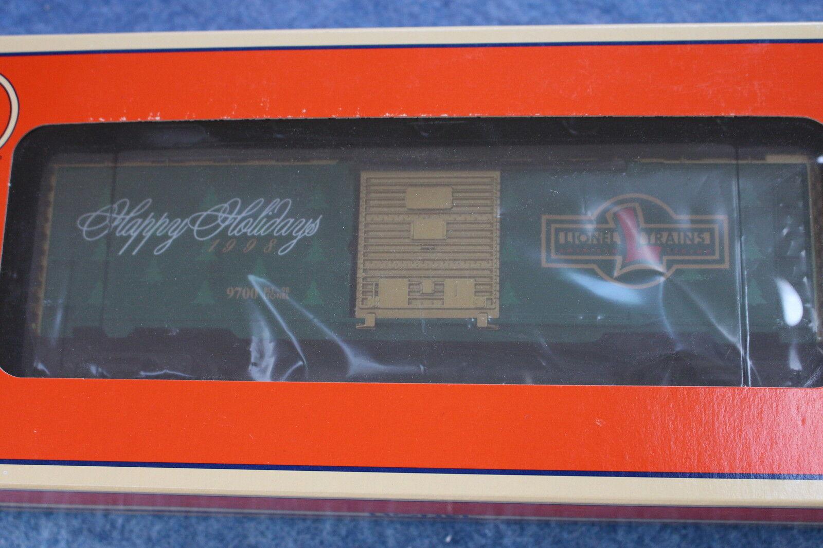 1998 Lionel 6-16291 1998 Christmas Box Car Happy Holidays L2725
