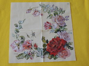4-stueck-Servietten-ROSENKRANZ-Rosen-Rose-Serviettentechnik-Blumen-ganzes-motiv