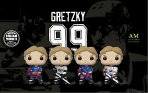 Funko-Pop-NHL-Hockey-Wayne-Gretzky-4er-Paquet-Blues-Kings-Rangers-Oilers
