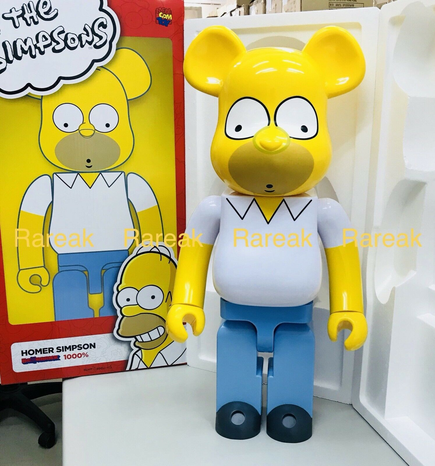 Medicom 2018 Be@rbrick Fox 1000% de los Simpsons Pantuflas de Homero Simpson Bearbrick 1pc
