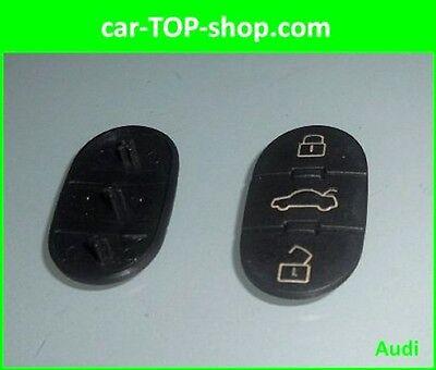 3Tasten Auto Schlüssel Tastenfeld Tasten Gummi für Audi A3 A4 A5 A6 A8 neu