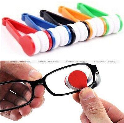 1 X Mini NEew Sun Glasses Eyeglass Microfiber Brush Cleaner New Random Sending
