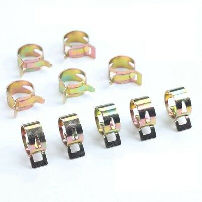 """25 each Fuel line clips 1//4/"""" OD Motorcycle Auto hose tube clamps spring clamp"""