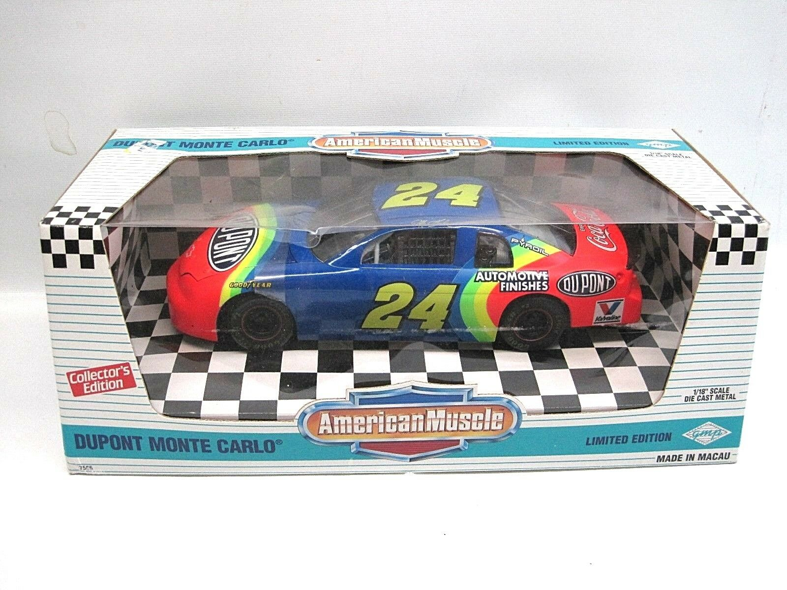 ERTL 1 18th scale DuPont Jeff Gordon Monte Carlo autographed signed
