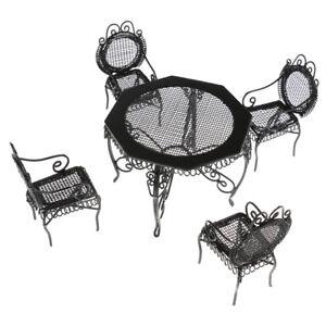 Wooden Black Octagonal Clock for 1:12 Dollhouse Miniature Furniture  JB