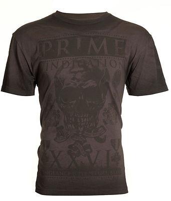 HYBRID BRAND Men T-Shirt VINDICATION Skull Biker MMA UFC Express Lucky M-XXL $35