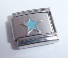 BLUE STAR Italian Charm - Stars Night Sky Space 9mm fits Classic Bracelets E125