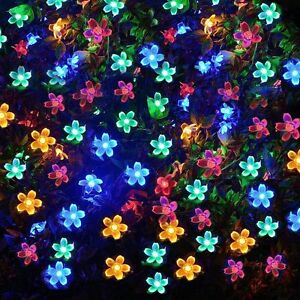 Solar powered xmas string fairy christmas tree lights 21ft 50 led image is loading solar powered xmas string fairy christmas tree lights mozeypictures Image collections