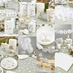 Guess how much i love you unisex baby shower decorations party neutral tablew - Deco pour baby shower ...