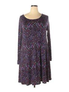 matilda jane women purple casual dress xxl  ebay
