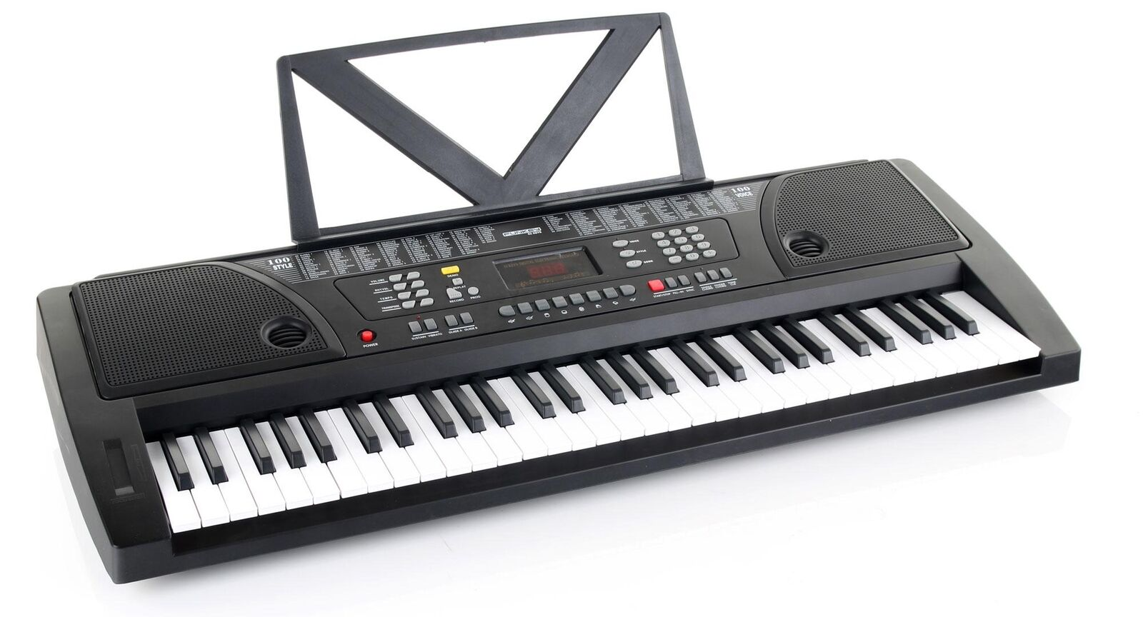 Digitale a 61 tasti Fun Keyboard E-pianoforte Klavier 100 suoni 100 Ritmi Display