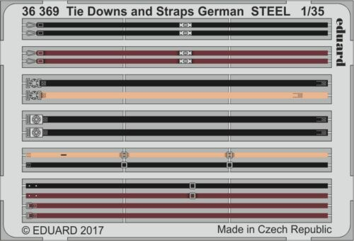 Eduard PE 36369 1//35 Tie Downs and Straps German STEEL