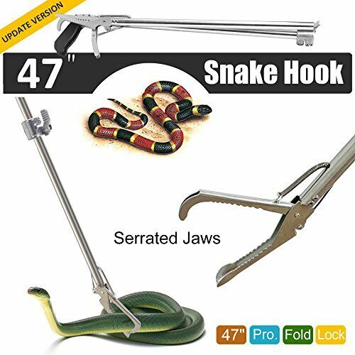 Collapsible Zigzag Jaw Snake Tong & Handling Tool for Med to Large Snakes (47 )