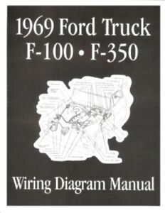 ford 1969 f100 f350 truck wiring diagram manual 69 ebay rh ebay com 1971 Ford Truck Wiring Diagram 1968 ford truck wiring diagram