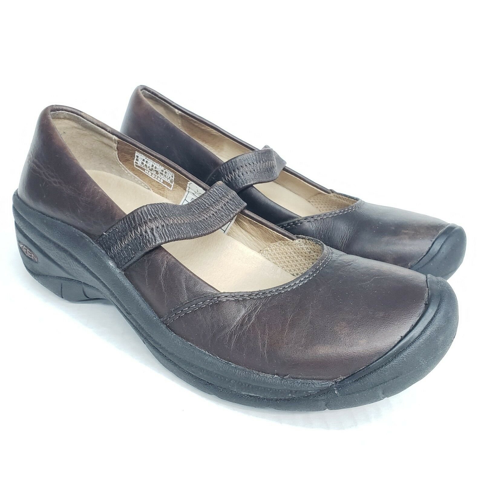 KEEN Women's shoes Mary Jane Mules Size 7.5  Brown Leather