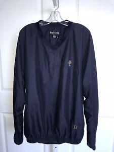 Footjoy-Mens-XL-Navy-Pullover-Golf-Jacket-V-Neck-Windbreaker-Long-Sleeve-Pocket