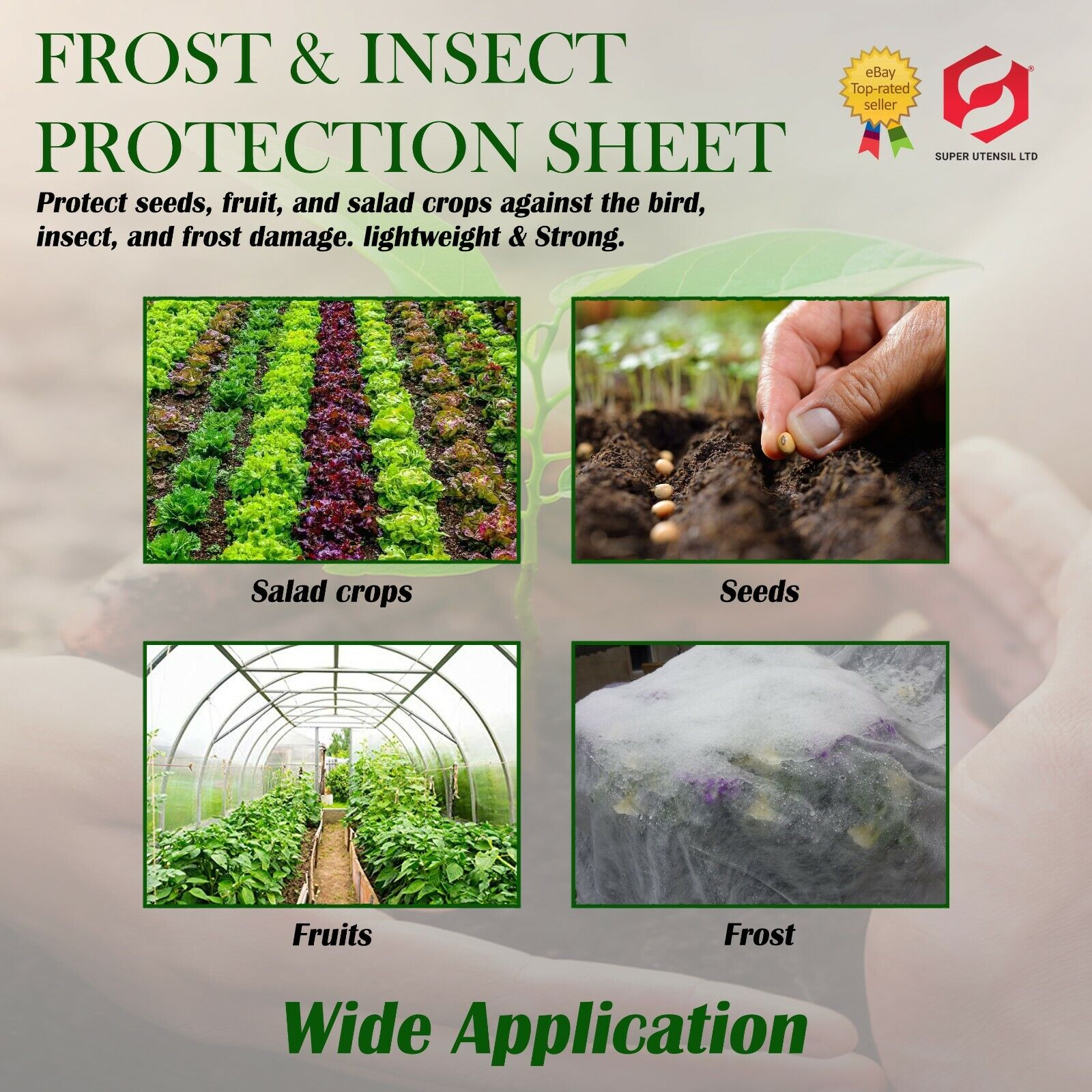 1.5m x 8 Wide Garden Cold Frost Wind Fleece for Winter Plant by super Utensil