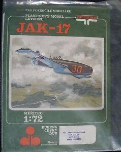 VACUFORM-Jakowlew-JAK-17-1-72-Flugzeug-Modellbausatz-Airplane-Model-KIT