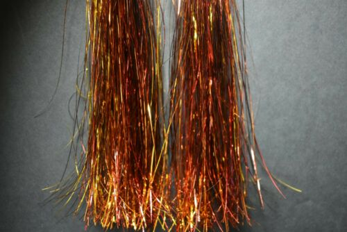 """8/"""" Strands FLASHABOU Tinsel Fly Flash Fly Tying Hank FIRETAIL 1,200"""