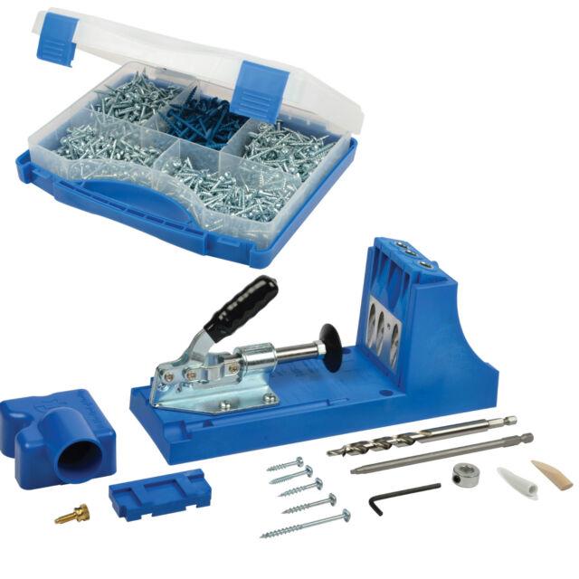 Kreg K4 Pocket Hole Jig Kit Sk03 675 Screws Carpentry Woodworking