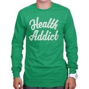 Health Addict Funny Healthy Vegan Vegetarian Short Sleeve T-Shirt Tees Tshirts
