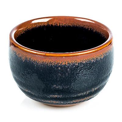 Tireless Tenmoku Negro Japonés Sake Tapadera Antiques Asian Antiques