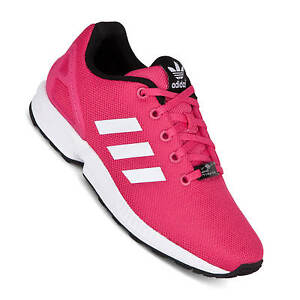 Details about Adidas Zx Flux Ladies Childrens Shoes Equipment Pink S74952