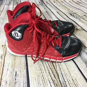 best authentic c33f1 eccb6 Image is loading Adidas-Derrick-Rose-773-II-University-Red-and-