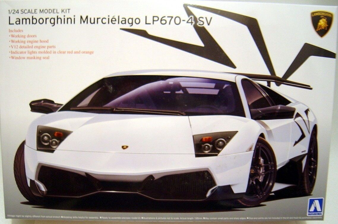AOSHIMA LAMBORGHINI MURCIELAGO LP670-4 SV Scala 1/24 Cod 00708