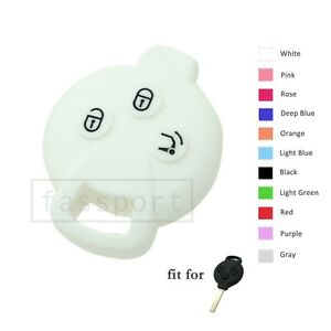 Silicone Cover fit for MERCEDES BENZ SMART Fortwo Remote Key Case 3 BTN CV9900WT