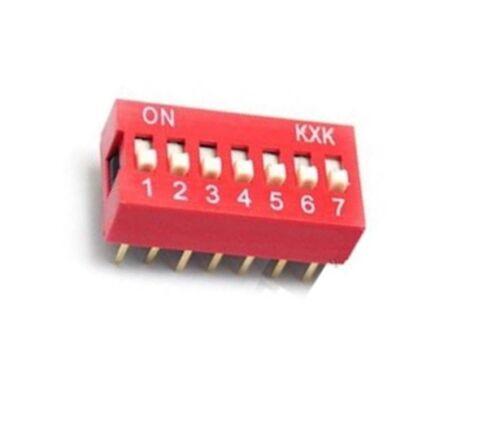 10PCS NEW Slide Type Switch Module 2.54mm 7-Bit 7 Position Way DIP Pitch