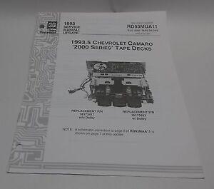 gm delco 1993 5 radio 2000 series camaro cassette service manual rh ebay com Manual Transmission 4 Speed Manual Transmission 62 Chevy