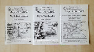 Details about General Index to Old Ordnance Survey Maps of London Dickinson  RA 44-46 3 Books