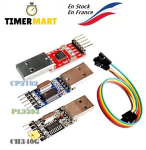3pcs USB to TTL Module 1pc PL2303 + 1pc CP2102 + 1pc CH340G USB UART Module