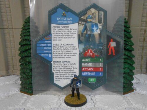 Heroscape Custom Battle Guy Dbl Sided Card & Figure w/ Sleeve Kick Ass 2 Icon