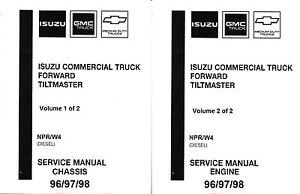 1996 1997 1998 isuzu npr gmc chevy w4 diesel truck repair service rh ebay com gmc w4500 repair manual 2002 gmc w4500 manual