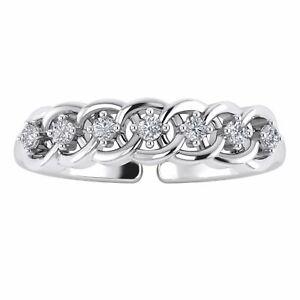 Women/'s Adjustable Blue Sapphire /& Diamond 14k Yellow Gold Over 3-Stone Toe Ring