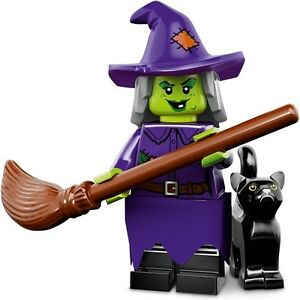LEGO-Minifigures-Series-14-Monsters-halloween-Wacky-Witch-with-cat-hat-and-broom