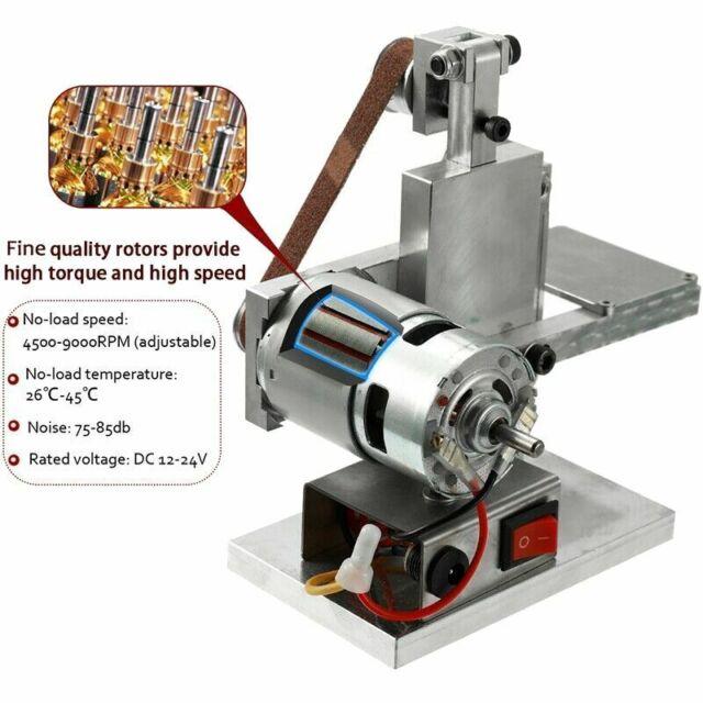 SODIAL Us Plug Diy Mini Belt Sander Bench Mount Grinder Polishing Grinding Machine Buffer Electric Angle Grinder 175x110x140Mm