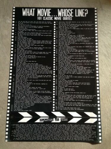 """Classic Movie Quotes 24/""""x36/""""poster Bar Trivia Lounge decor"""