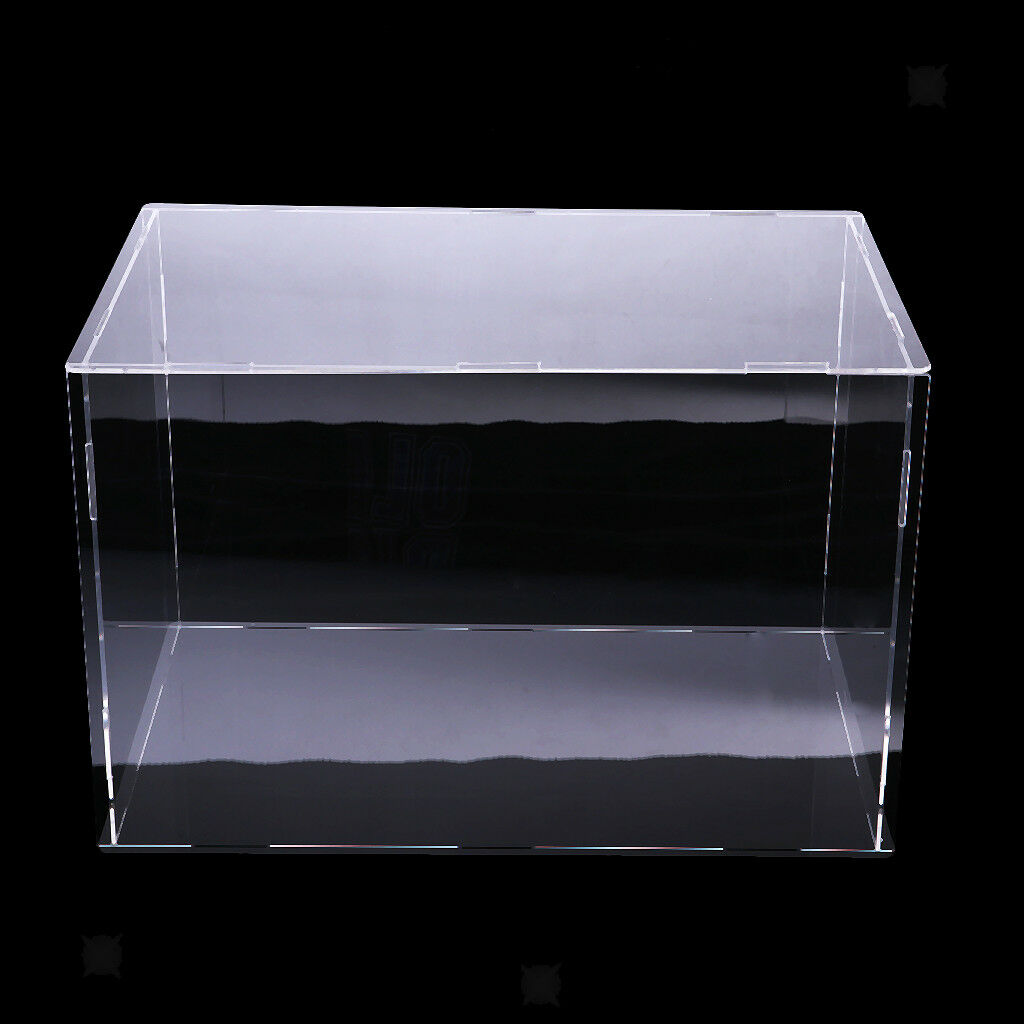 Clear Acrylic Display Case Dustproof Model Figures Predection Box 32x25x25cm