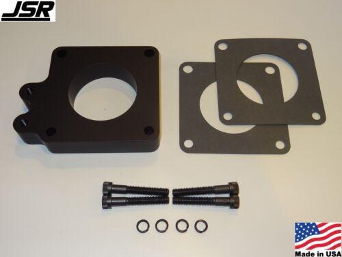 86-93 Mustang GT LX 5.0 Throttle Body EGR Spacer Delete Plate Kit 1in 65mm BLACK