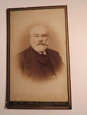 Wesel - alter Mann mit Bart im Anzug - Portrait / CDV