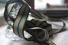 "5 yards 1 1/4"" wide vintage roll petersham grosgrain striped black ribbon hat"