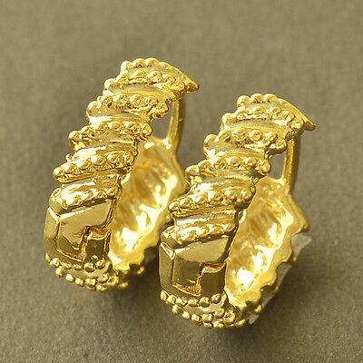 Fashion Earring yellow Gold Filled Womens Hoop Earrings Free Shipping