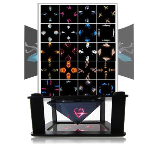 Holographic Display Stands Projector 3 D Projection 3.5-6inch Mobiles Phone Fw1s