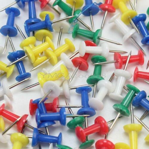 100pcs Pin Wand Nadeln bunt gemischt für Pinwand Push Pins farbig Stoß SUM
