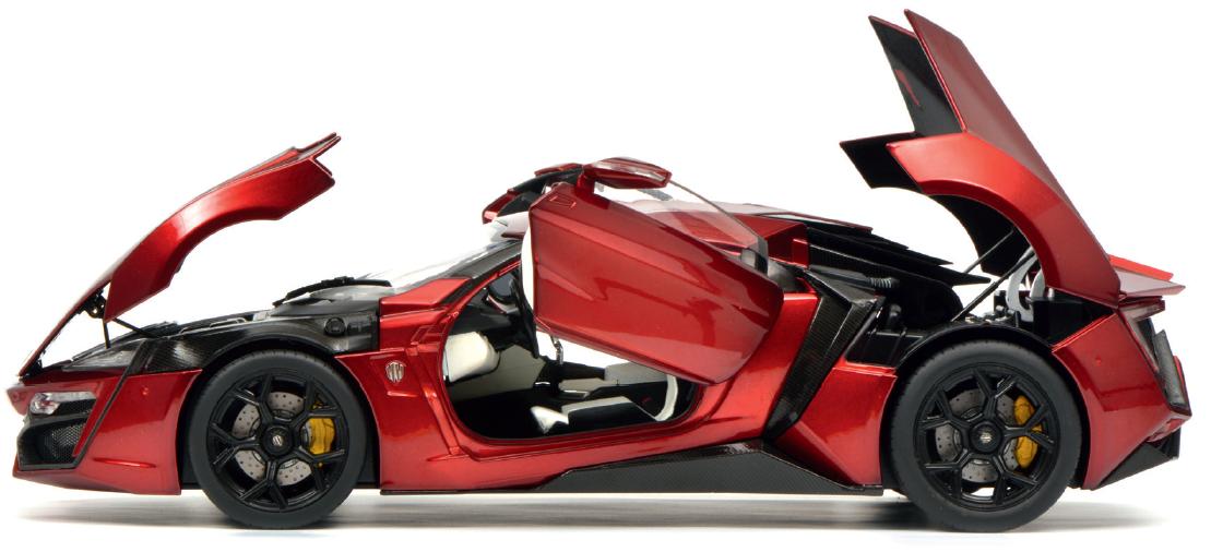 Schuco W-MOTORS lykan hypersport Rouge Metallic 1 18
