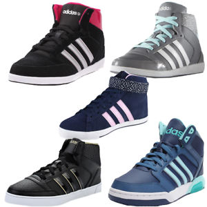 Details about Adidas Neo Hoops Vulc Daily Twist Mid Trainers Womens Size